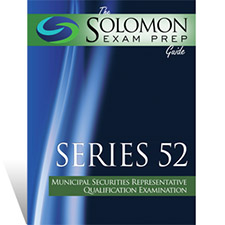 Series 52 Exam Study Guide