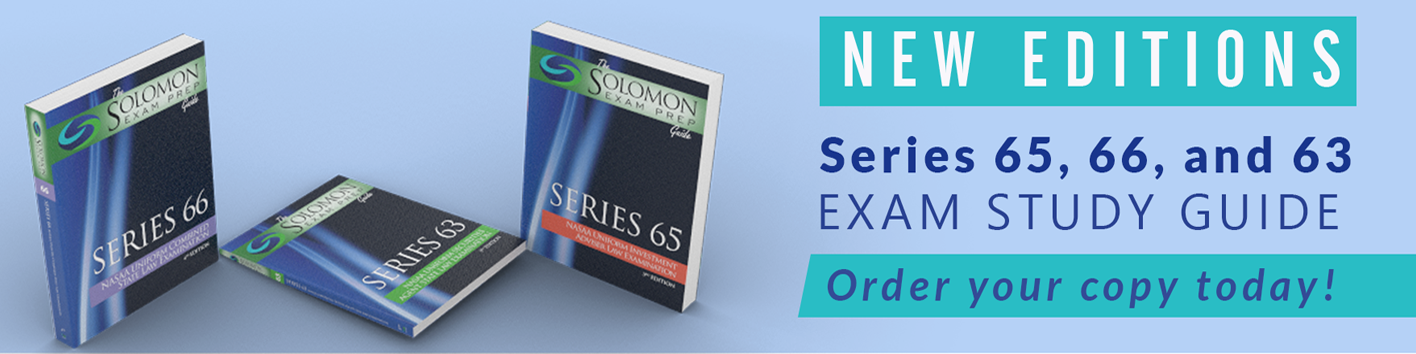 New Editions of Series 65,66, and 63 Exam Study Gu
